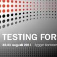 """Hej, vill rekommendera Testing Forum 13. Fullspäckad agenda där bland annat Testzonen finns representerade i form av Jagge som kör en Panel debatt""""Agila team behöver inga testare"""" och Jonas Hermansson […]"""
